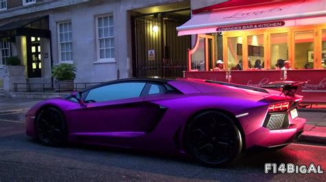 lamborghini aventador purple pink lamborghini aventador lp760 4 loud start up youtube
