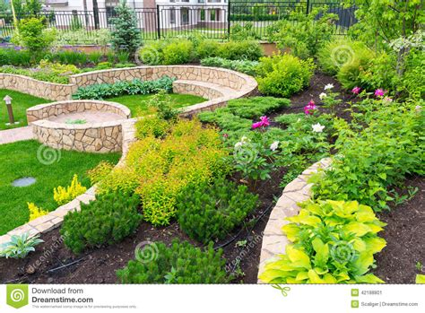 in home garden landscaping in home garden stock image image