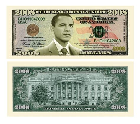 Barack Obama 2008 Dollar Bills From Noveltieswholesalecom