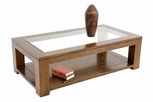 Table Basse Bois Et Verre : table basse en bois et verre id es de d coration int rieure french decor ~ Teatrodelosmanantiales.com Idées de Décoration