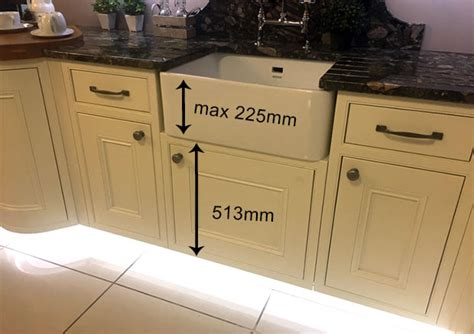 belfast sink kitchen unit inframe belfast sink units sink heights diy kitchens 4411