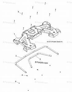 Polaris Atv 2016 Oem Parts Diagram For Body  Rear Rack