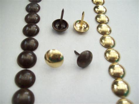 Upholstery Tacks 100 x antique brass crafts furniture upholstery nails