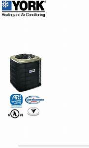 York Air Conditioner Tcgd18 Thru 60 User Guide