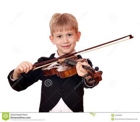 jongen weinig violist stock fotografie afbeelding 24204692
