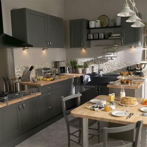 photo cuisine grise quelle couleur pour votre cuisine équipée cuisine blanche cuisine ou orange