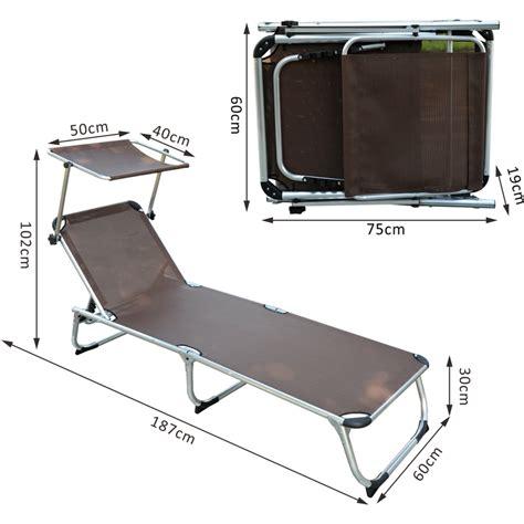 chaise longue avec pare soleil chaise longue transat bain de soleil pliant avec pare