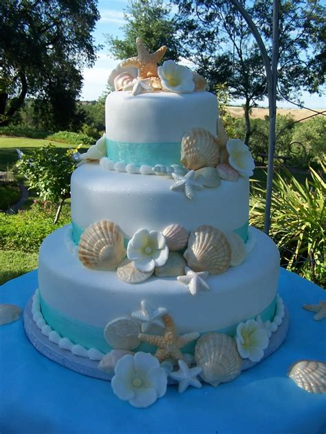Beach Theme Wedding Cake Cakecentralcom