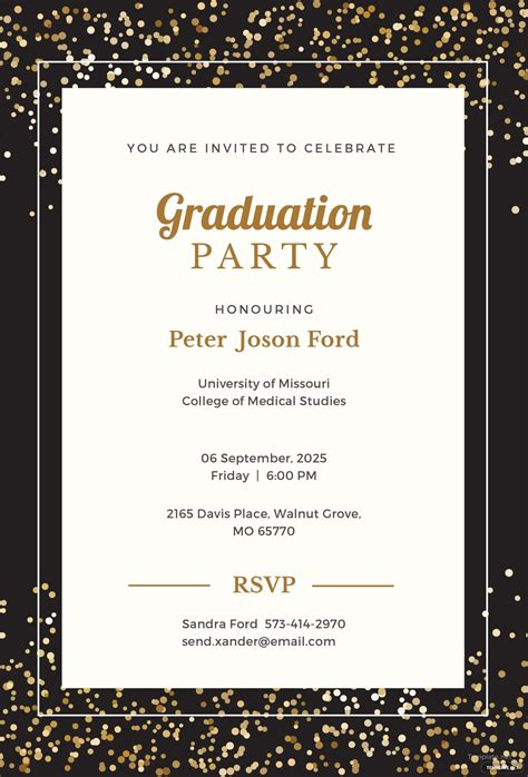 simple graduation invitation template  microsoft
