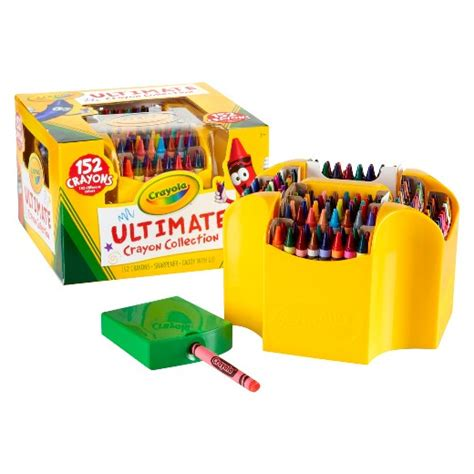 crayola 174 ultimate crayon collection with sharpener 152ct