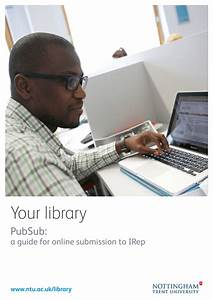Your Library Pubsub  A Guide For Online Submission To Irep