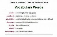 Grade 4 Vocabulary Words - Yourhelpfulelf