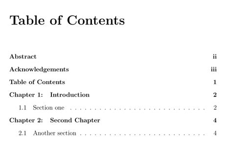 table of contents definition titletoc adding word quot chapter quot into table of contents