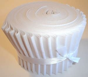 solid white cotton fabric jelly roll  fabric  strips
