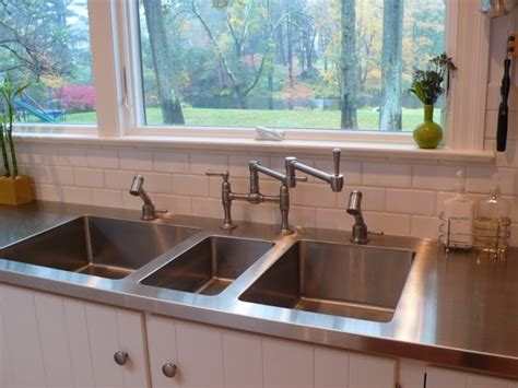 Stainless Steel Sink Countertop Integrated - stainless steel countertops enclosures and baffles