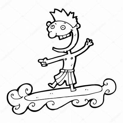 Surfer Cartoon Dude Lineartestpilot Depositphotos