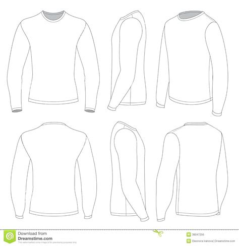 Sleeve Shirt Template Template Blank Sleeve Shirt Template S White T