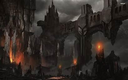 Dark Fantasy Medieval Castle Wallpapers Background Desktop