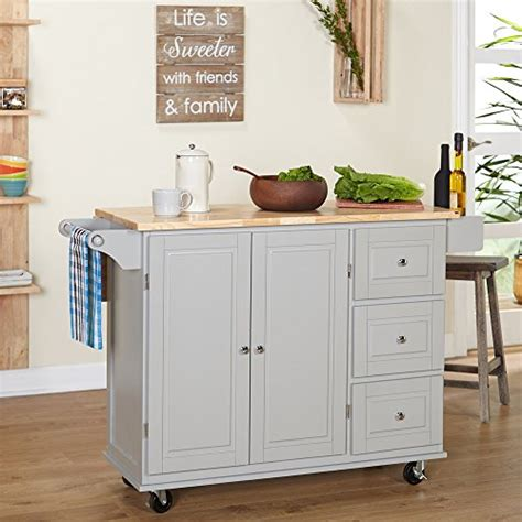 Kitchen Utility Cart With Drawers by Modhaus Living Modern Transitional Drop Leaf Kitchen Cart