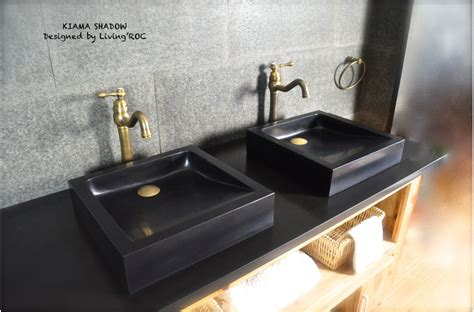 black granite vessel bathroom sinks 16 quot x16 quot black granite stone bathroom vessel sinks kiama