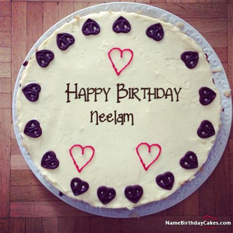 happy birthday neelam video  images birthday cake