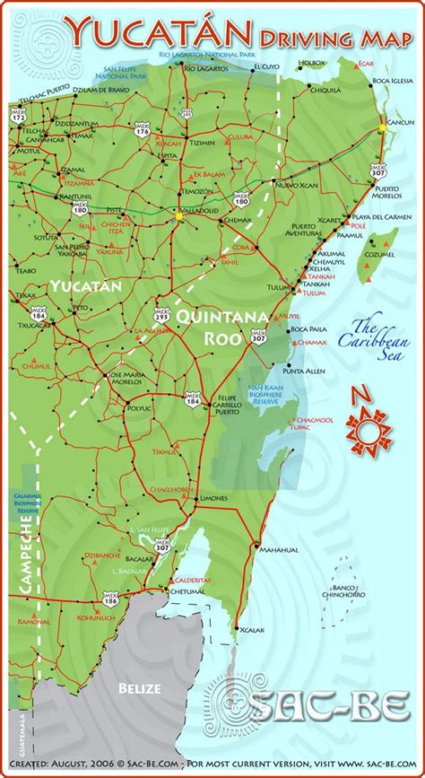 yucatan driving map cancun map costa maya driving maps