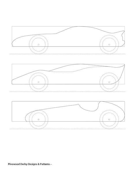 pine wood derby template qualads