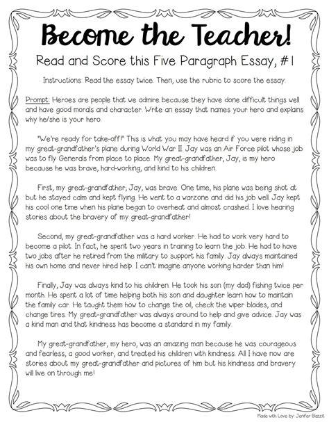 tips  teaching grading  paragraph essays