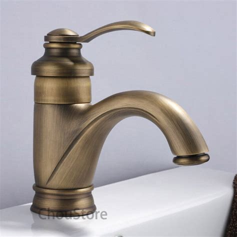 traditional sink mixer antique brass bathroom basin faucet