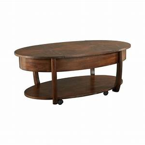 hammary concierge oval lift top cocktail table in brown With oval lift top coffee table