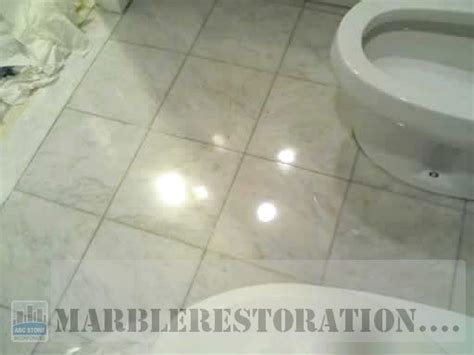 Bathroom Floor. Polished Marble Tiles
