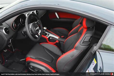 audi tt rs mk black  red interior iii audi tt