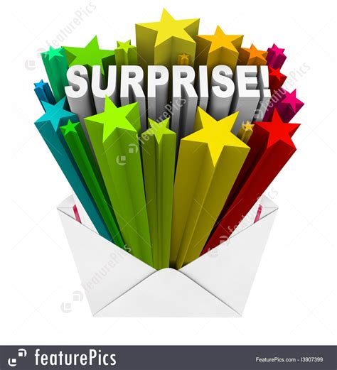 signs  info surprise word bursts  open envelope