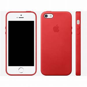 Leather Case for Apple iPhone 5s Case Red - WackyDot