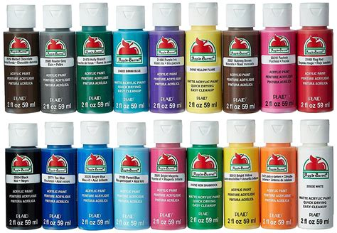acrylic paint colors used apple barrel acrylic paint set 18 2