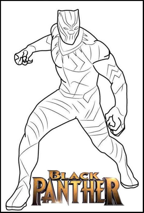 fantastic black panther coloring page avengers coloring pages superhero coloring pages
