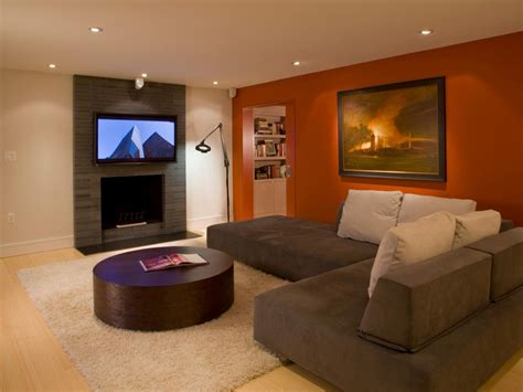 Pictures Of Living Rooms Painted With Two Colours Brown