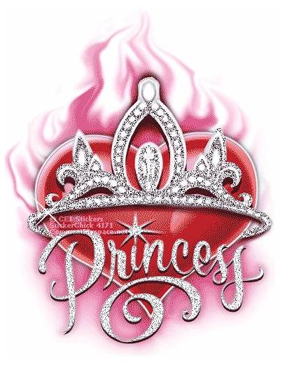 Princess Glitter Crown Heart Crowns Quotes Word