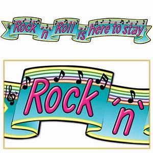 Rock N Roll Deko : 50er jahre partydeko rock n roll is here to stay banner 180cm ~ Bigdaddyawards.com Haus und Dekorationen