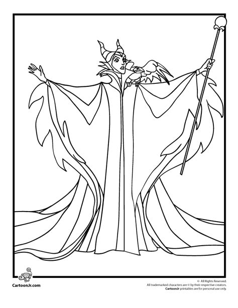 maleficent coloring page woo jr kids activities