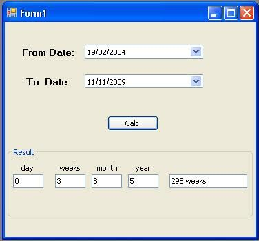 calendar date calculator java calendrier