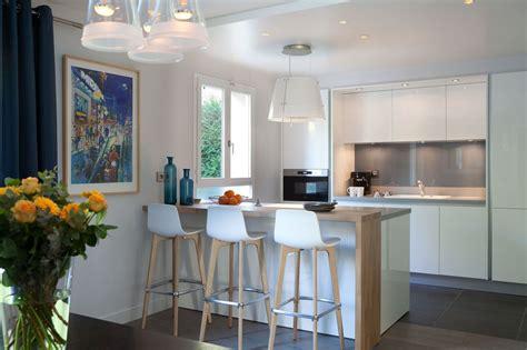 photo de cuisine ouverte sur sejour cuisine ouverte sur salon quand la modernité rencontre