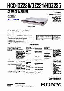 Sony Dav-dz230  Dav-dz231  Dav-hdz235 Service Manual