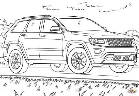 jeep grand cherokee coloring page  printable
