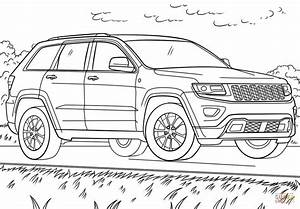 Jeep Grand Cherokee Coloring Page Free Printable Coloring Pages