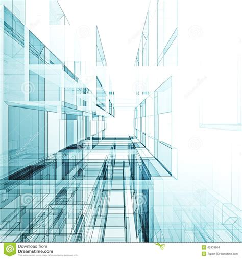 Abstract Architecture Background Stock Illustration