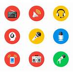 Icon Audio Vector Circle Icons Library Transparent