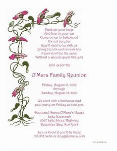 Family Reunion Invitations Wording | Family Reunion ...