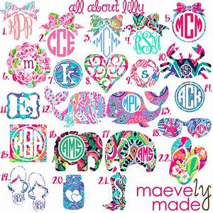 all about lilly monogram personalized design by maevelymade With initials design