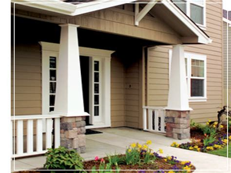 front porch dimensions craftsman tapered columns square taper front porch column